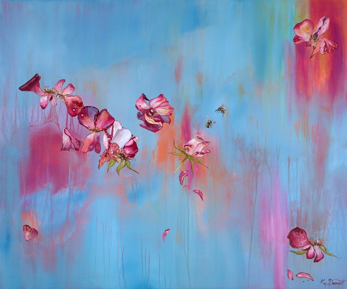 Happy Like the Bees by kay davenport -  sized 48x40 inches. Available from Whitewall Galleries